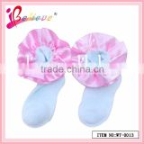 Cute baby girls products wholesale ribbon decoration fancy baby socks gift (WT-0013)
