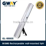 NEW ABS plastic HI-Power 5050SMD led rechargeable emergency light,foldaway floor stand lamp for camping
