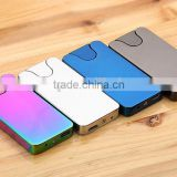creative gift double sided wire USB charging shake lighter mini slim windproof lighter with gift box