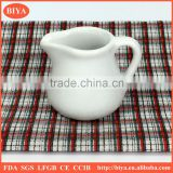 popular porcelain mini milk jar factory directly made in China,milk pot, juice jar and coffee jar,spice jar