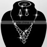 yiwu fancy bridal costume jewelry set / bridal jewellery