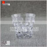 New Products In Market Glass cup/ hot sales design Hand press stock diamond engrave mugs and cups