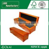 High end wooden coin box, large coin banks boxes acrylic coin / donation box