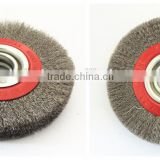 150mm.wheel brush with brass wire,stainless steel wire wheel brush,dental brass wire brush