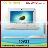 dual core laptop computer 10.1inch high-definition TFT Android OS wired and wifi network