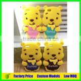 Cute yellow bear Custom silicone mobile phone case cover for Huawei Ascend G9 mobile cell case cover