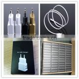 OEM black white gold logo printing paper box with micro cable 5v 1.5a eu multi charger for e cigarette