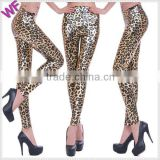 Ready New Design Style Sexy Ladies Animal Print Shinny Legging Pants