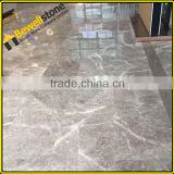 Precut shower room dark sunny grey marble tiles slabs 2cm