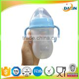 Factory pricing Food grade silicone nipple feeding bottle for baby with the BPA free test