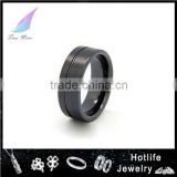 2015 Fashion Jewelry ceramic engrave name black gay men ring