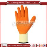 Seeway 10G Polycotton Liner Orange Latex Coated Workplace Safety Gloves Direct Buy from China