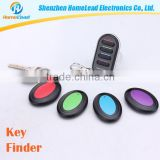 Wholesale Cheap ABS Remote Control Alarm Zinc Alloy Anti-Lost Alarm Keychain Finder With Sound Alarm 4 Keychian Receivers
