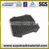 12m crane rail pads/synthetic elastomer rail pad with steel/railway rubber pad
