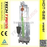 HDT-52E 20m height 5000kg loading aluminium heavy duty ground support tower