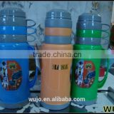 thermos vacuum flask with glass liner / glass water bottle / plastic thermos pot / China factory