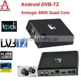 Acemax KI DVB S2 free to air set top box amlogic S805 quad core internet tv set top box support CCCAM, NEWCAMD, BISS