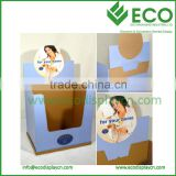 corrugated paper retail dump bin display boxes , cardboard box display dump bin for pillow