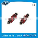Fashion Red PCB CR3501 31 36 39 41mm Double Arrow Dome Light Festoon Led