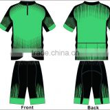 quick dry sublimation bicycle clothing jersey set/jersey and shorts
