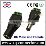 XinQi CCTV Accessories12 Volt DC Power Jack 5.5x2.1 and 55x25 mm Female To Male Plug Cable Connector