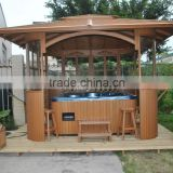 Hot new product durable wooden garden outdoor gazebo / gazebo customized