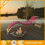 Relaxing leisure recliner function luxury modern acrylic outdoor sun beach swimming pool chaise sex lounge chair                                                                         Quality Choice
