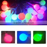 Outdoor 20 Leds Solar Pannel 2V 80mAh Christmas Party Light Waterproof Garden Cotton Ball String Light