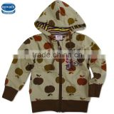 (A3356)2016 Apricot 2-6Y Nova factory high quality hoodies baby boy hoody kids children winter wear clothes hoodie coat