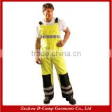 HVP005 Breathable Waterproof Acid Resistant Safety Reflective Tape Work Pants with Knee Pad