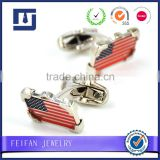 American Flag Cufflinks Souvenir Metal Custom epoxy sticker logo metal,USA Cuff links                                                                         Quality Choice