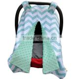 100% Polyester Unisex Design Super Soft Breathable Baby Girl Car Seat Cover
