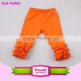 cotton baby girl spring pants icing ruffle pants wholesale girls ruffle pants icing baby leggings