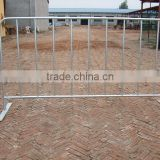 2014 Direct Factory Used Hot dip Galvanized Steel Crowd control barrier