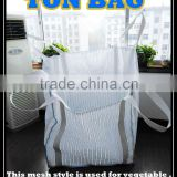 China Shandong high quality pp woven mesh ventilated breathable FIBC bulk big bag for potato