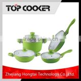 Aluminum Forged Ceramic Coating flower cookware set