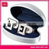 Hot selling business gift metal brand name cufflinks