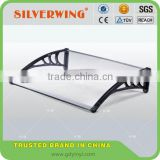 DIY window or door canopy material plastic awning brackets for plastic covering in low canopy price