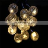 for outdoor christmas wedding party decoration solar and bettery led plastic ball fairy string light
