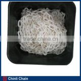 Barricading Plastic Link Chain,White plastic Link Chain with Plastic bucket