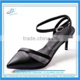 Elegant women pumps dress shoes lady ankle strap heel shoes with genuine leather