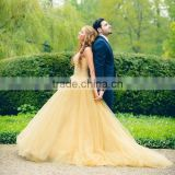 (MY2861) MARRY YOU 2016 Sweetheart Puffy Ball Gown Beaded Champagne Aliexpress Wedding Dresses From China