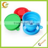 Eco-friendly food grade kids silicone collapsible drinking cup Promotional silicone tea cup
