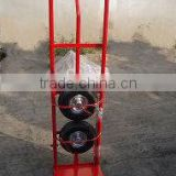 High quality heavy duty hand pull trolley ht1805 with PU foam / pneumatic / solid wheels