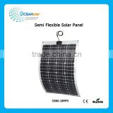 60w frameless light weight semi flexible solar panel
