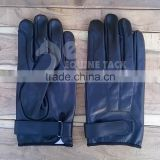 Leather Riding Gloves, Horse Riding Gloves Black Colour, Size XXS to XXL, Ladies & Gents