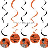 PVC Halloween witch vampire ghost hanging swirls party decorations