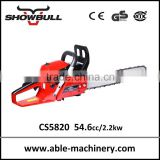 Motosierra de Gasolina 54cc cheap chinese gas chain saws with carlton saw chain and walbro carburetor