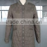 free sample high quality women's winter jacket and coat long style ladies high fashion cheap garment 2015