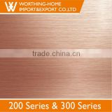 Colored DDQ Quality 1000mm 1220mm Width Black Titanium Embossed 201 304 Stainless Steel Decorative Sheet Metal